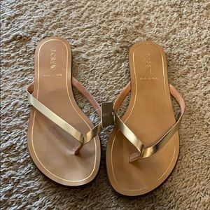 J. Crew fold flip flops. New with tags.